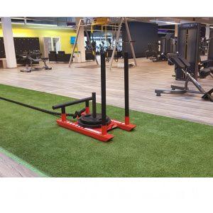 Umetna trava v roli za fitnes centre